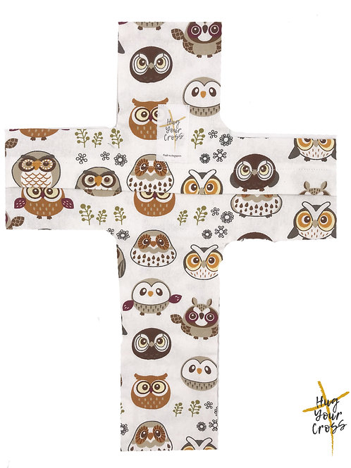 My Little Owlets Cross Pillow Cover