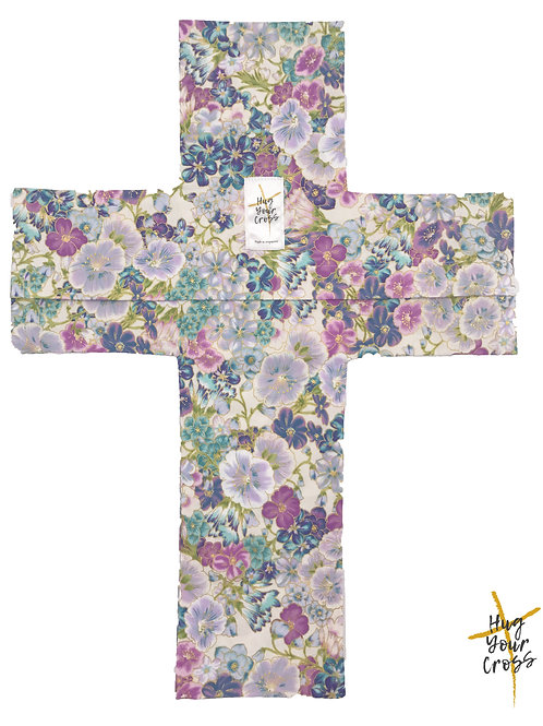 Japan Cherry Blossom- Print 4 Purple Cross Pillow Cover