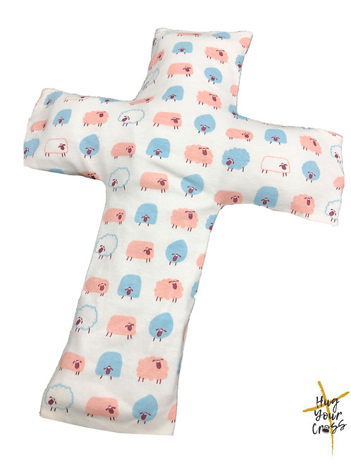 My Little Meh Meh Cross Pillow