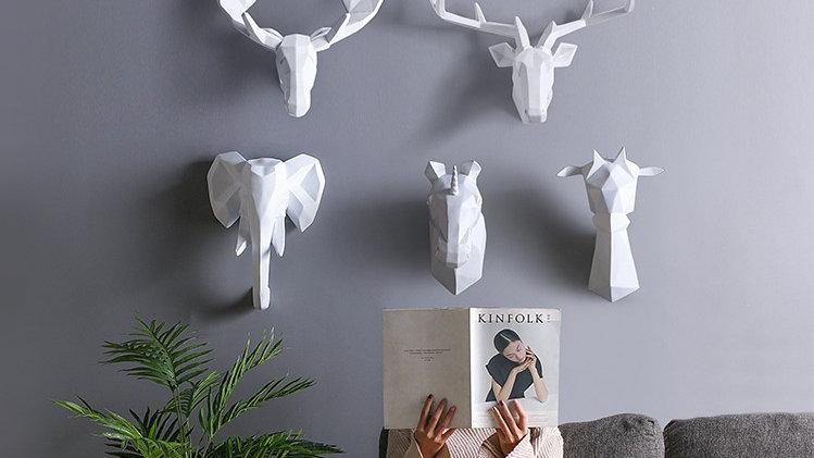 Trophy Animals Hanging Sculpture
