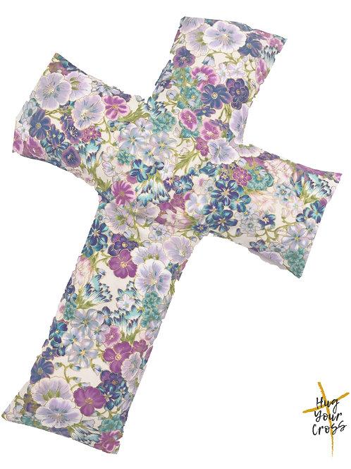 Japan Cherry Blossom- Print 4 Purple Cross Pillow