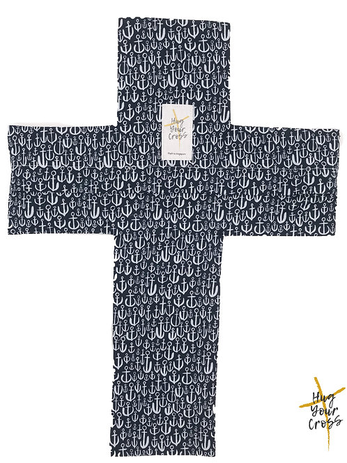 My Little Anchors Cross Pillow Cover