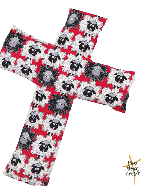We are His Little Sheep- Red Cross Pillow