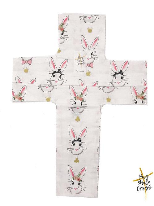 Magical Bunnies Cross Pillow Cover