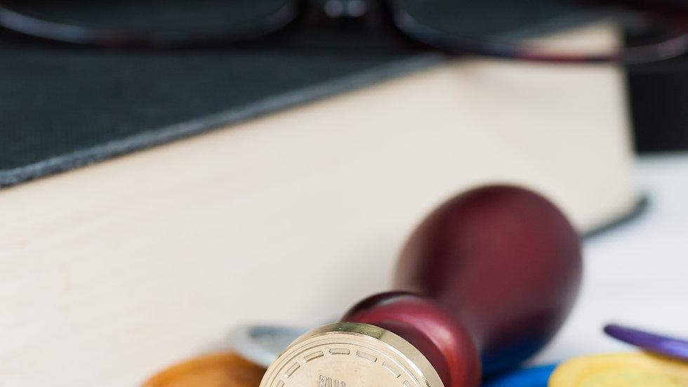 Custom Image Wax Seal Stamp - 50 mm diameter