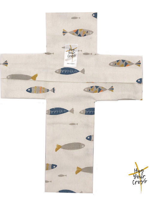 We are His Little Fisherman Cross Pillow Cover