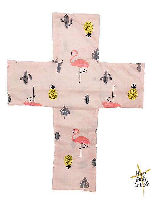 My Little Flamingo Cross Pillow Cover