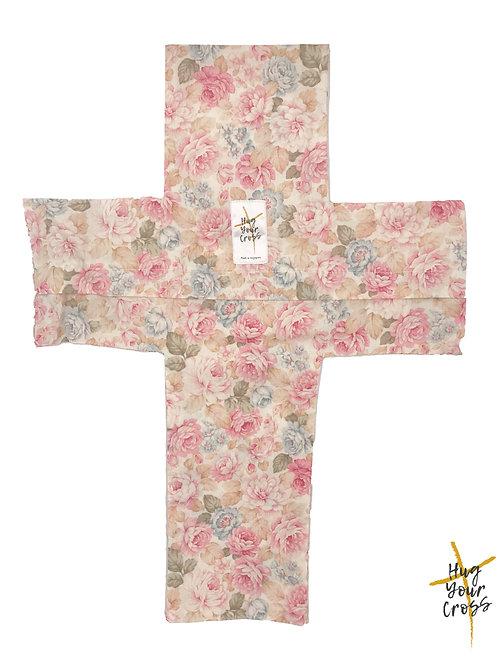 Sweet Rose Cross Pillow Cover
