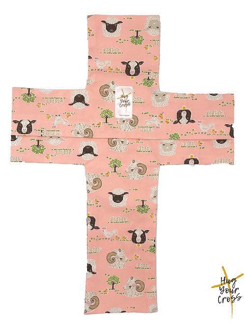 My Sheep Farm Cross Pillow Cover