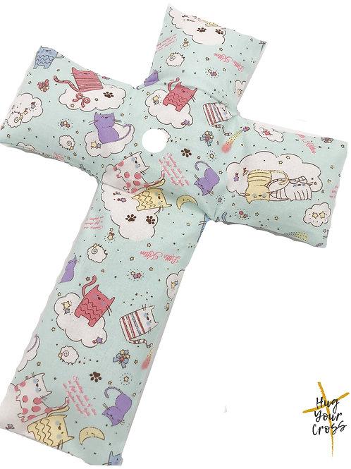 My Little Kittens Land Cross Pillow