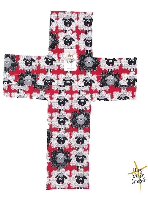 We are His Sheep- Red Cross Pillow Cover