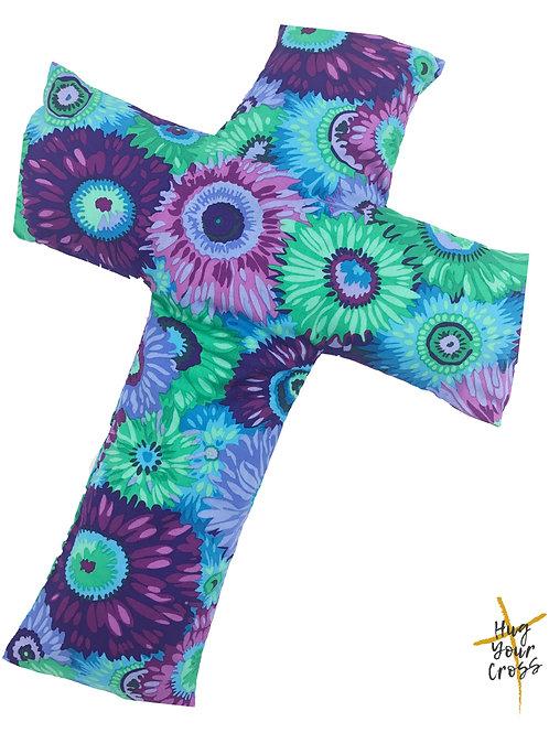 My Floral Love- Purple Cross Pillow