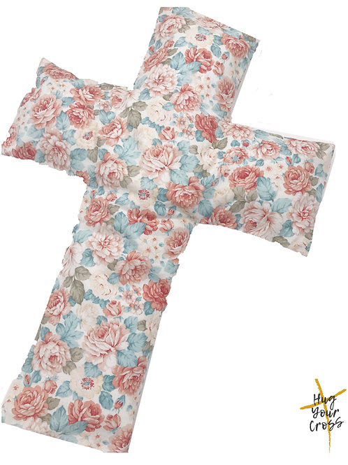 Peony Cross Pillow