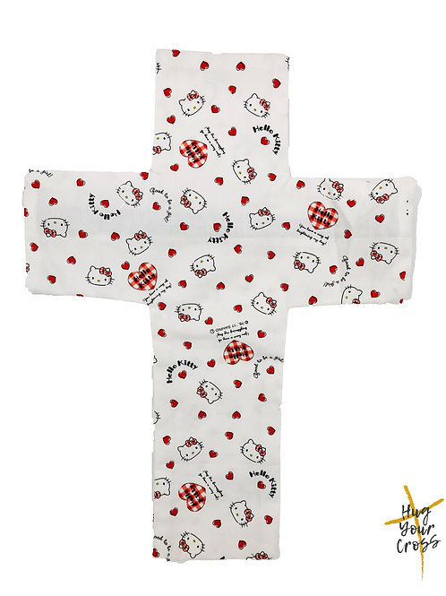 My Little Hearty Hello Kitty Cross Pillow Cover