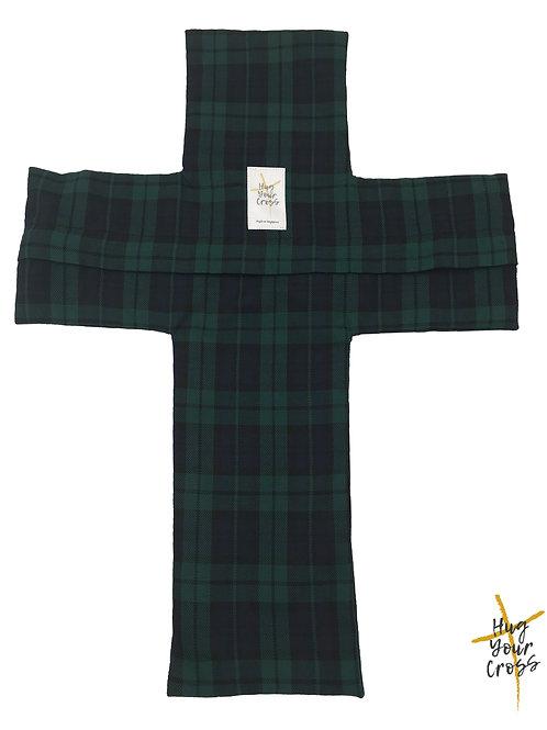 Plaid & Check- Green Cross Pillow Cover