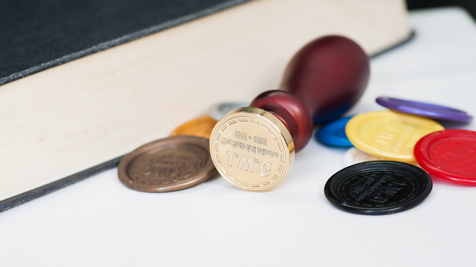 Custom Image  Wax Seal Stamp - 25 mm diameter