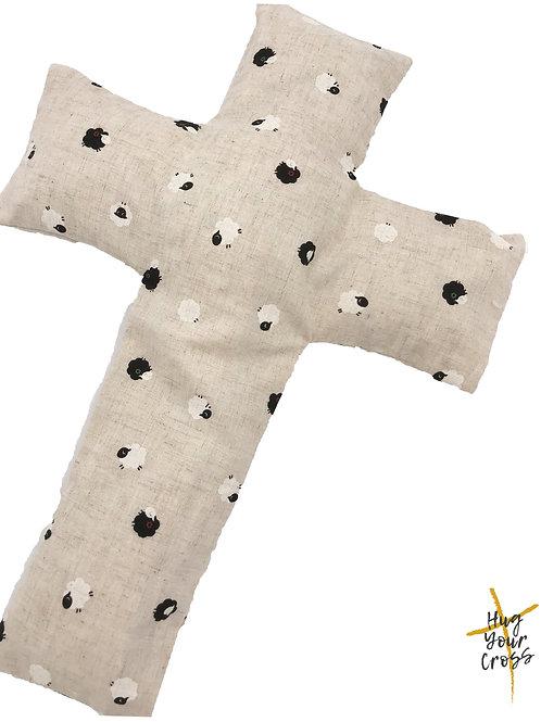 My Little Japan Sheep- Black Cross Pillow