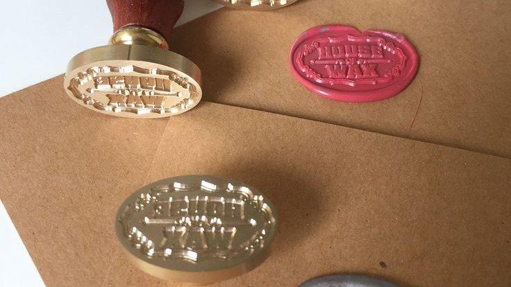 Oval Wax Seals - Custom Image