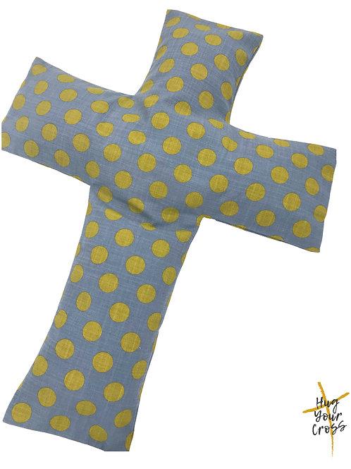 Sun shine Polka Dots Cross Pillow