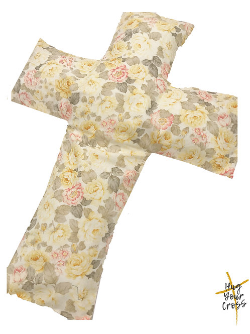Champagne Rose Cross Pillow