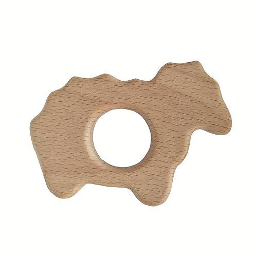 Natural Wood Teether- Sheep