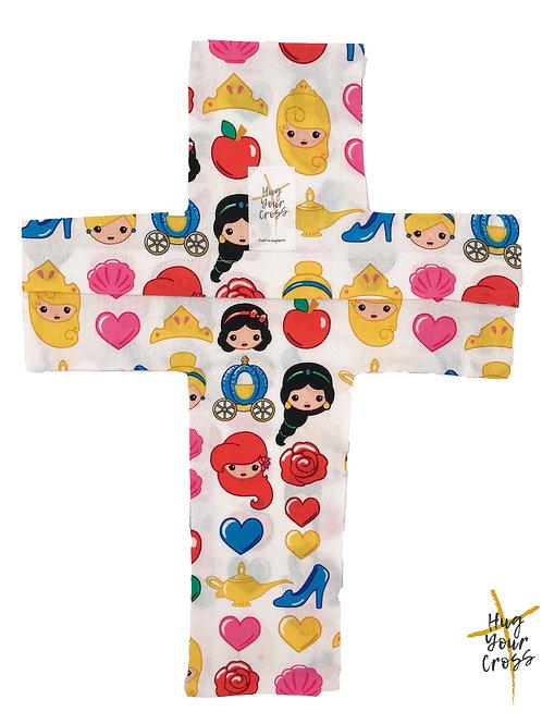 My Little Disney Princess Cross Pillow Cover
