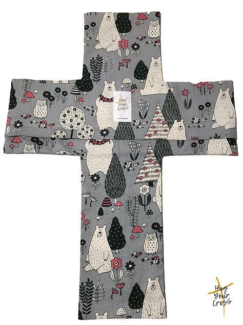 Bears Forest (Grey) Pillow Cover