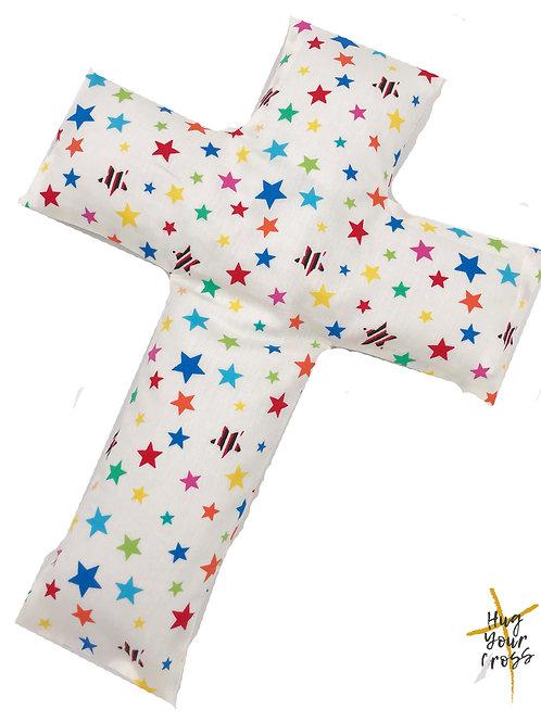 My Little Rainbow Stars Cross Pillow