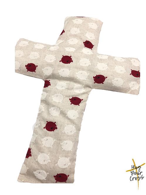 My Little Red Piglet Cross Pillow