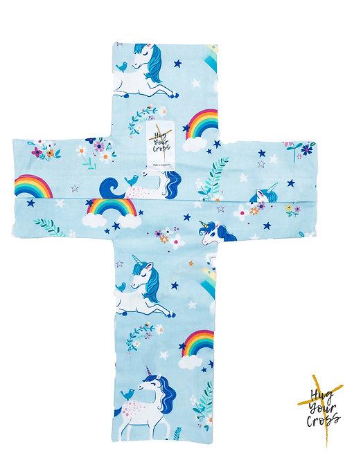 My Little Rainbow Unicorn Paradise Cross Pillow Cover