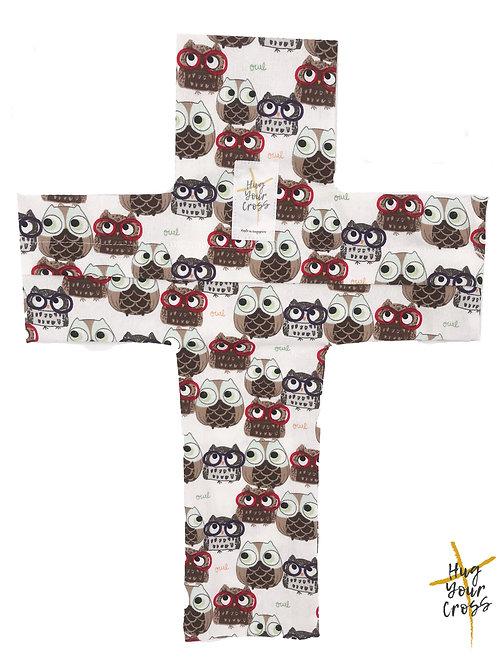 My Little Geek Owls Cross Pillow Cover