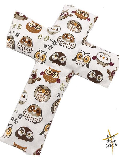 My Little Owlets Cross Pillow