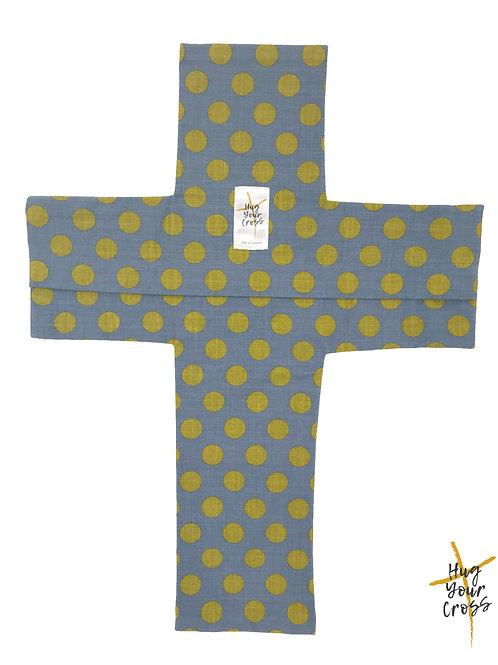 Sun Shine Polka Dots Cross Pillow Cover