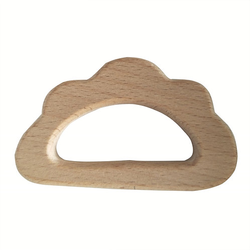 Natural Wood Teether- Cloud