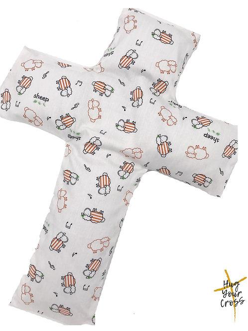 My Little Dancing Sheep Cross Pillow