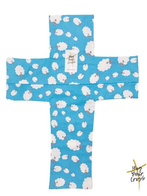 My Little Fluffy Sheep Cross Pillow Cover