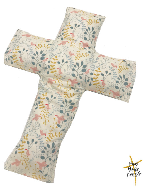 My Little Pink Birdie Cross Pillow