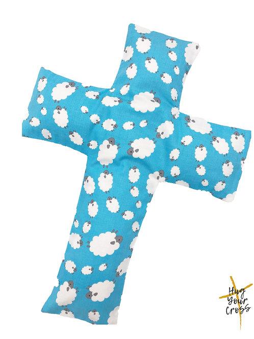 My Little Fluffy Sheep Cross Pillow