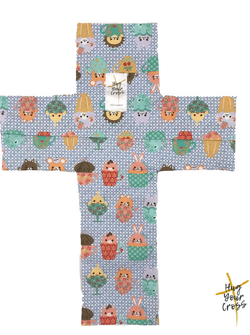 My Little Party Cups Cross Pillow Cover