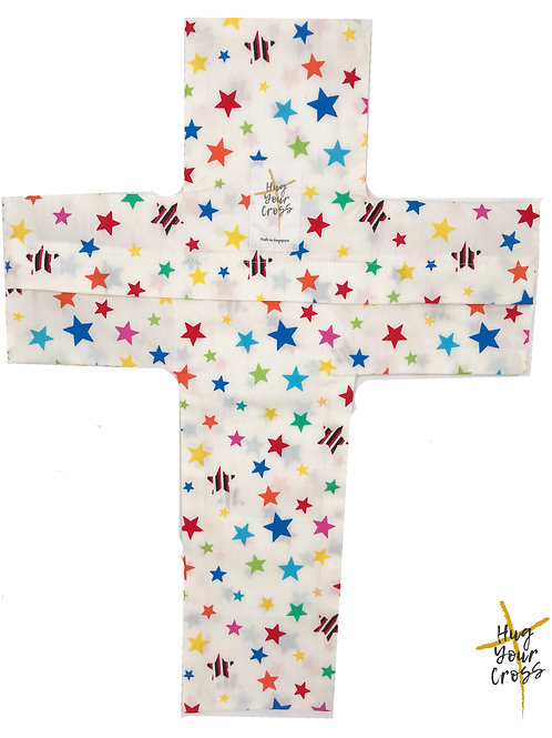 My Little Rainbow Stars Cross Pillow Cover