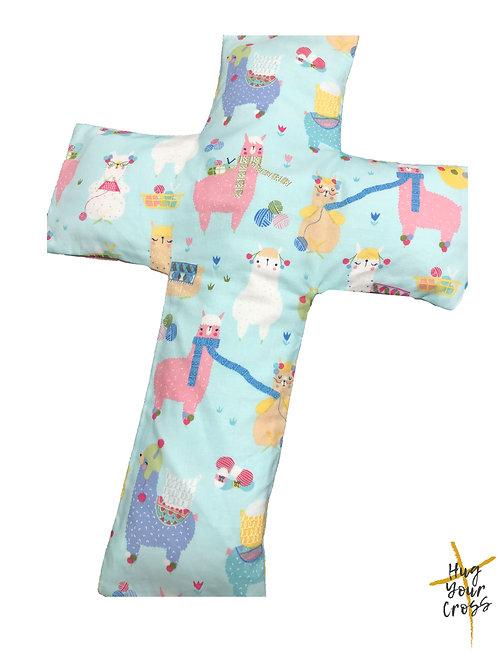 My Little Llama Cross Pillow