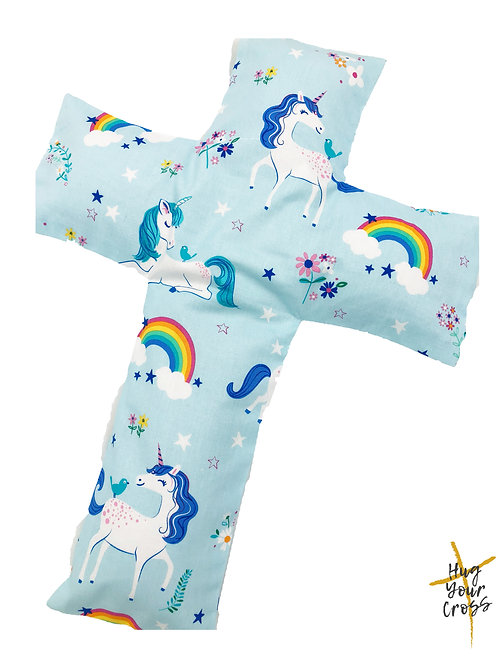 My Little Rainbow Unicorn Paradise Cross Pillow