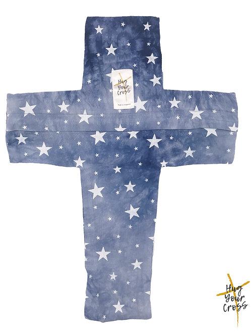 My Little Blue Sky Cross Pillow Cover