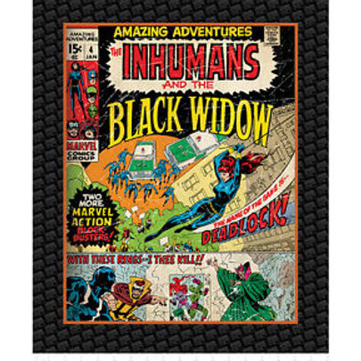 Marvel Comics III. Black Widow Minky Blanket