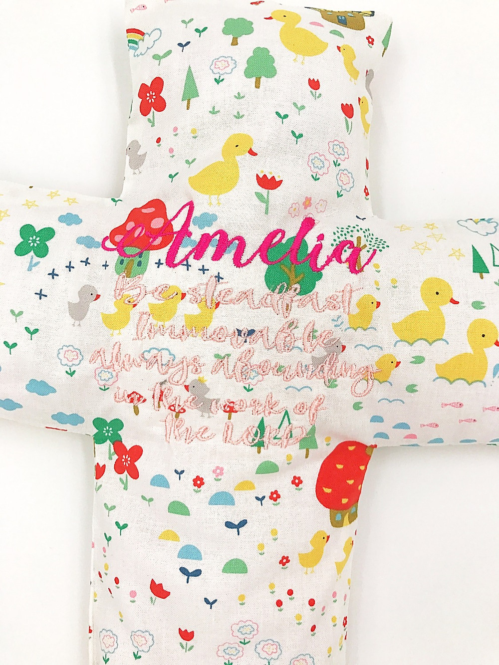 Amelia beansprout husk cross pillow