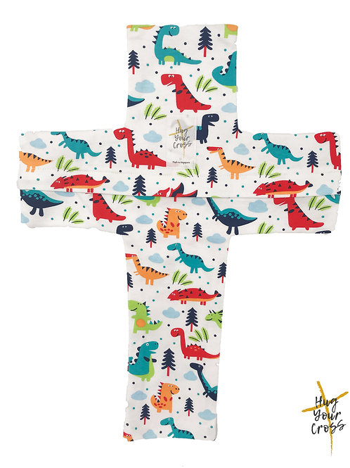 My Little Dinosaur Cross Pillow Cover