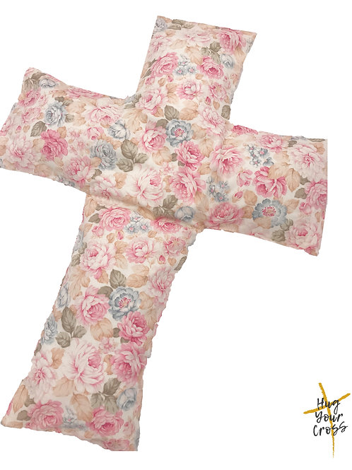 Sweet Rose Cross Pillow