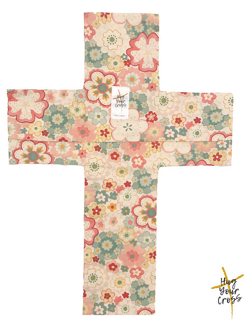 Japan Cherry Blossom- Print 2 Pink Cross Pillow Cover