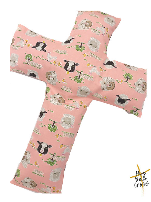 My Little Meh Meh Farm Cross Pillow