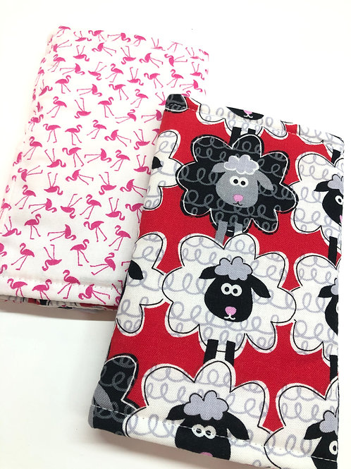Straight Drool Pads / Teething Pads Reversible for Baby Carrier